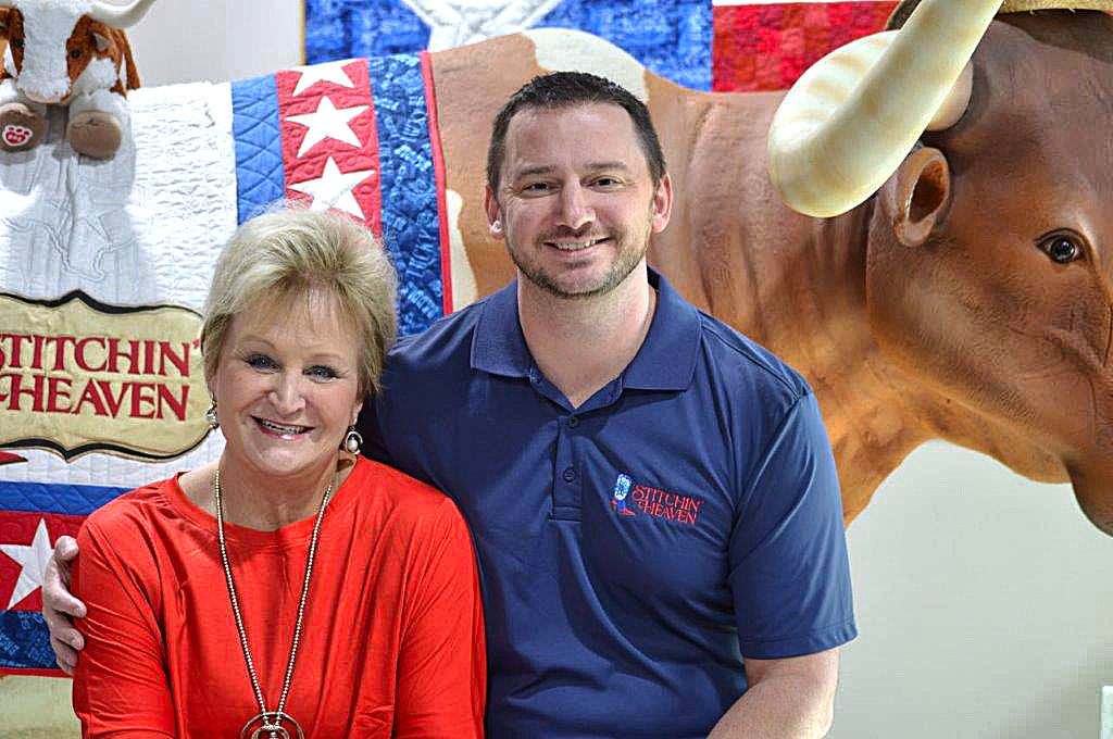 Deb and Clay Luttrell of Stitchin' Heaven in Quitman