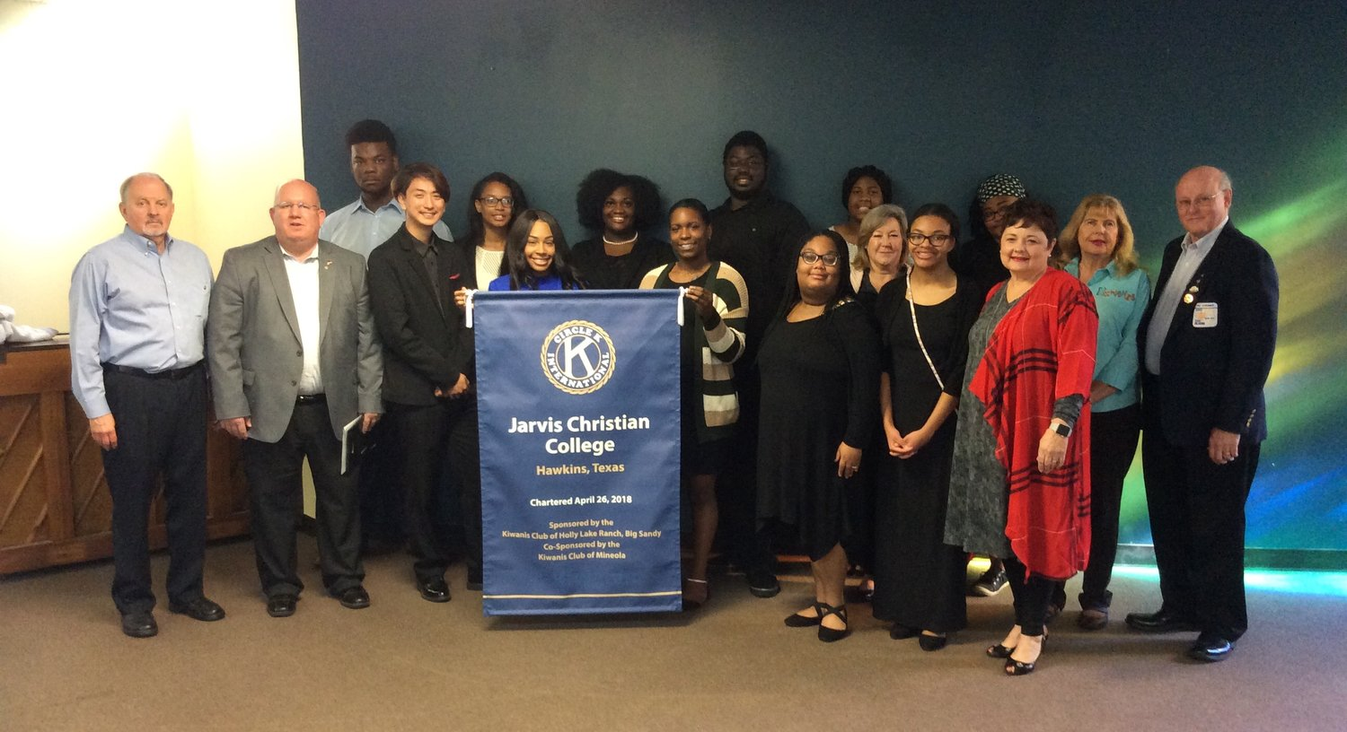 Mineola and Holly Lake Kiwanis Clubs were honored by Jarvis Christian College for their work supporting the Circle K International Club on the Jarvis campus.