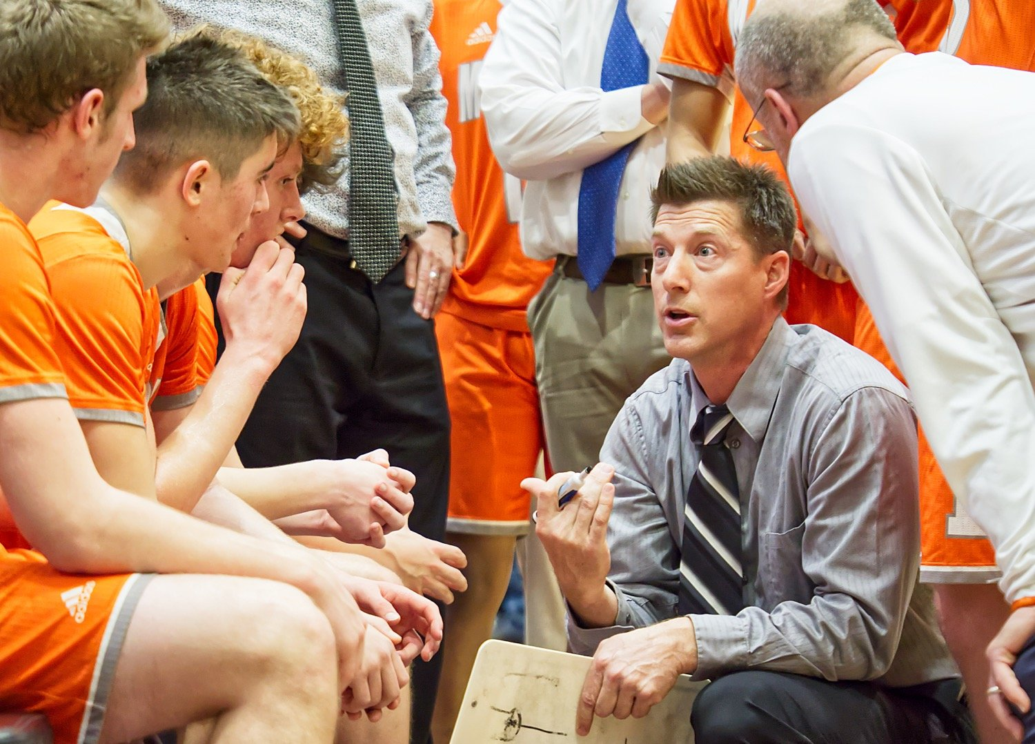 Mineola head basketball coach Ryan Steadman was honored as District 12-3A boys coach of the year.
