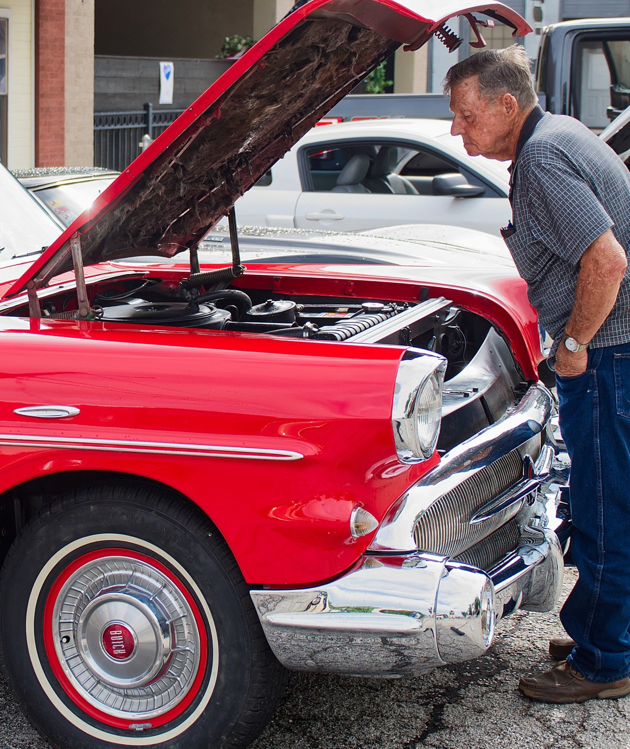A 1957 Buick Roadmaster drew attention Saturday morning at the car show in Quitman.