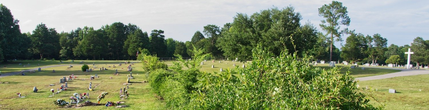 Plans were announced this week to remove the fence that has long separated the Black cemetery in Mineola from the predominately white Cedar Memorial Gardens. Here is a view looking down the fence with the Black cemetery on the left.