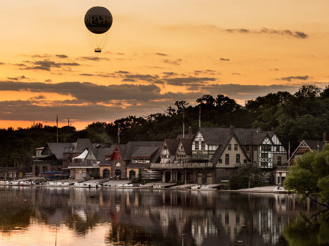 A stunning view of Boathouse Row at sunset. (Photo by Steve Feistel)