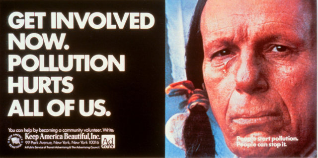 The ad featuring Iron Eyes Cody that appeared on Earth Day 1971.
