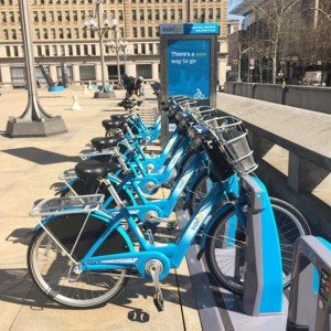 Philadelphia is one of at least 904 cities around the world to have a credit-card-based bicycle-sharing program.