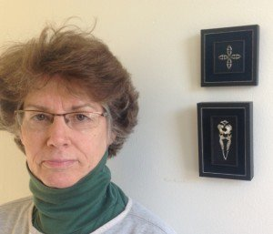 Anne Swoyer, of Mt. Airy, engages in one of the world's most unusual art forms. She takes apart owl pellets and uses the mouse bones in them to create vivid works of art.