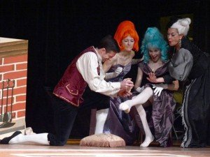 """Ellen (second from left) is performing here with (from left) Anthony Zangara, Susan Cade and Barbara Strogatz in """"Cinderella"""" at Germantown Friends School in 2015."""