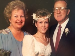Flourtown resident Barbara L. Sherf is surrounded by her now-deceased parents, Barbara A. Sherf and Charles Sherf. The bride was 28 in this wedding photo taken by Lindelle Photographers 26 years ago.