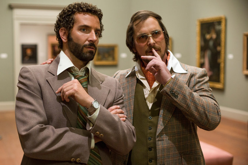 "Bradley Cooper and Christian Bale in ""American Hustle."""
