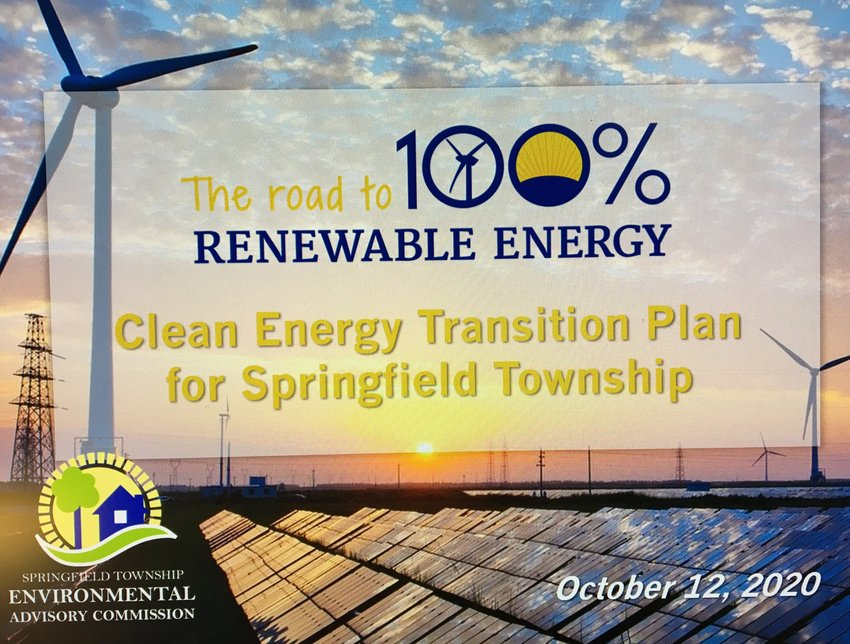 The introductory slide for Springfield Township's Ready for 100 presentation.