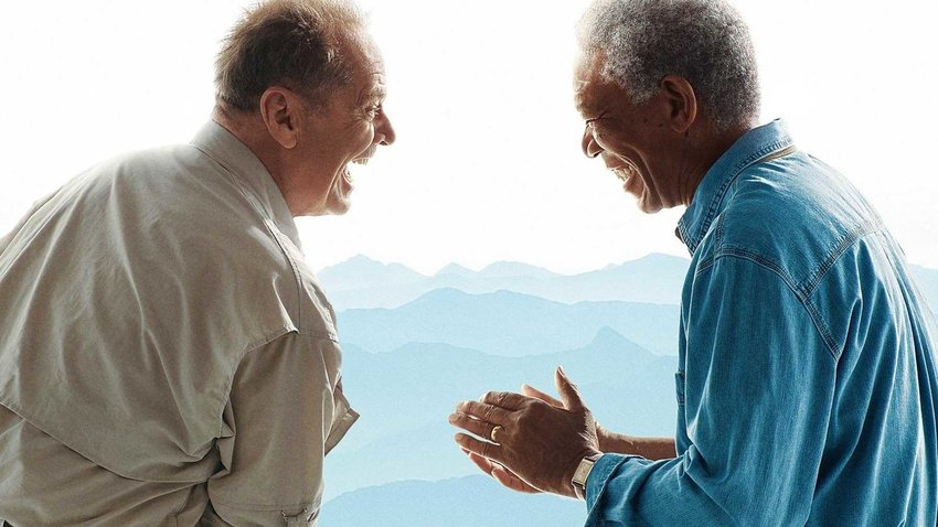 "Jack Nicholson and Morgan Freeman in ""The Bucket List."""