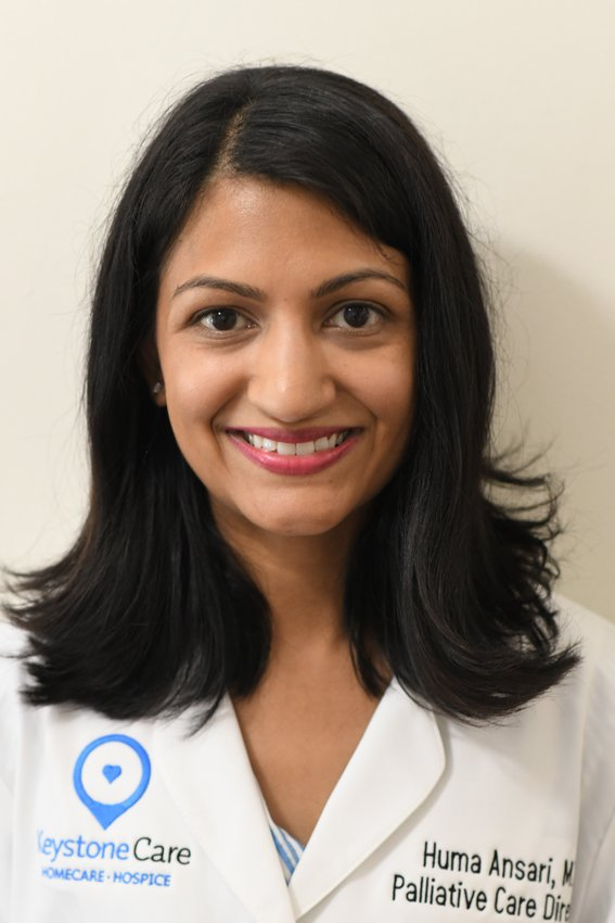 """""""There is a body of evidence now that demonstrates early palliative care involvement can actually help patients live better and longer,"""" said Huma Ansari, MD (seen here), KeystoneCare's Medical Director of Palliative Care Services."""