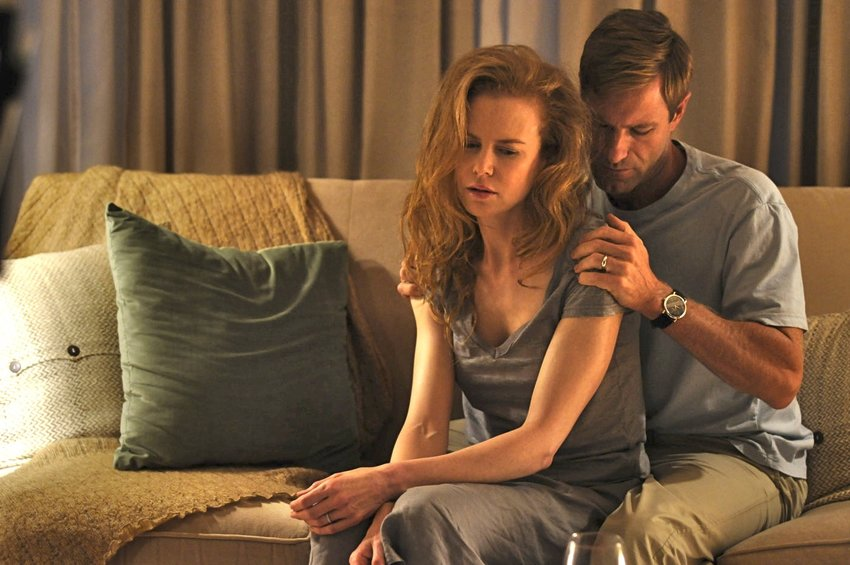 "Nicole Kidman and Aaron Eckhart in ""Rabbit Hole."""