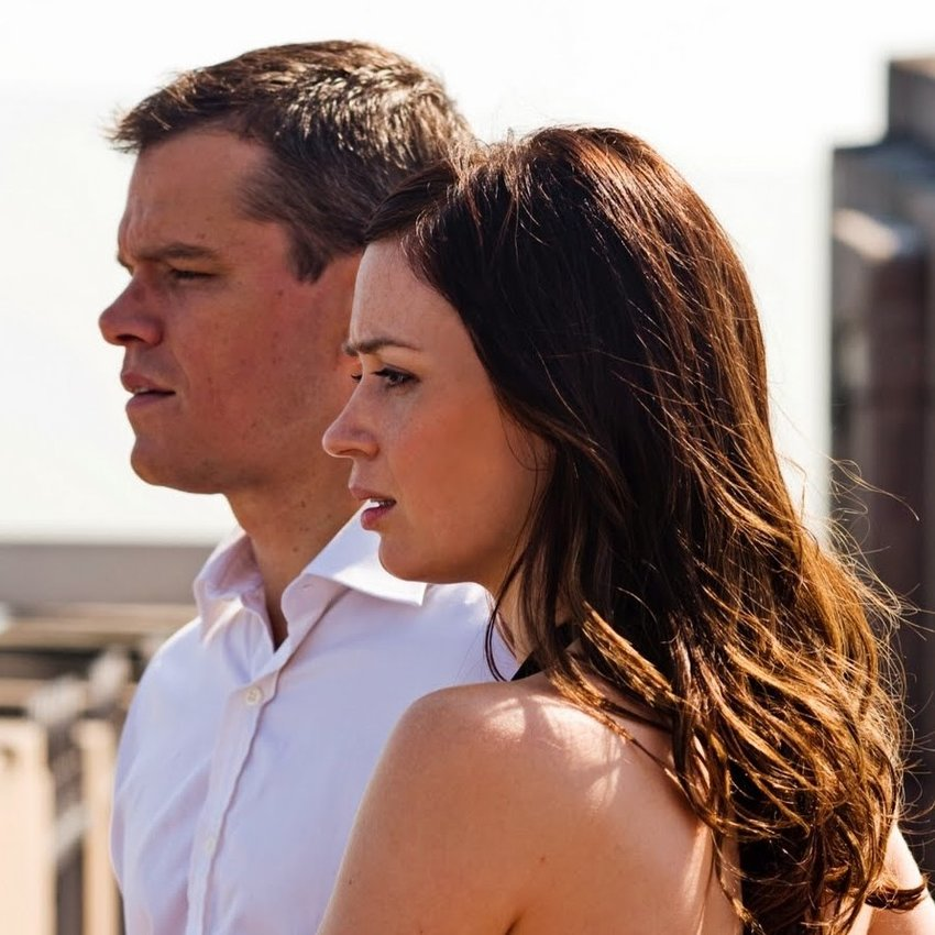 "Matt Damon and Emily Blunt star in ""The Adjustment Bureau."""