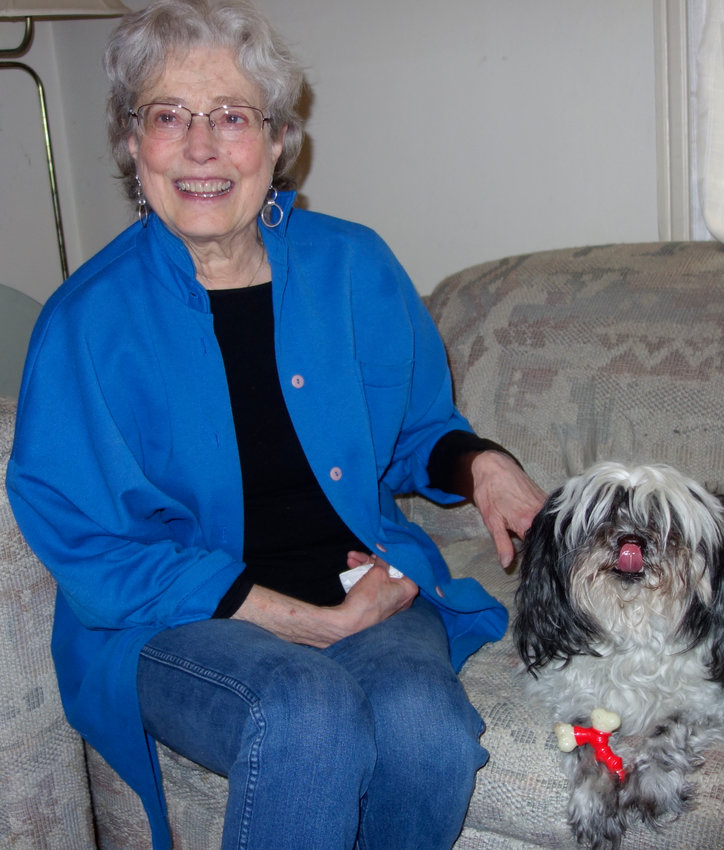 Bloom lived in Chestnut Hill with her husband, Bob Rossman, and Havanese dog, Dudley, rescued from a local shelter. (Photo by Barbara Sherf)
