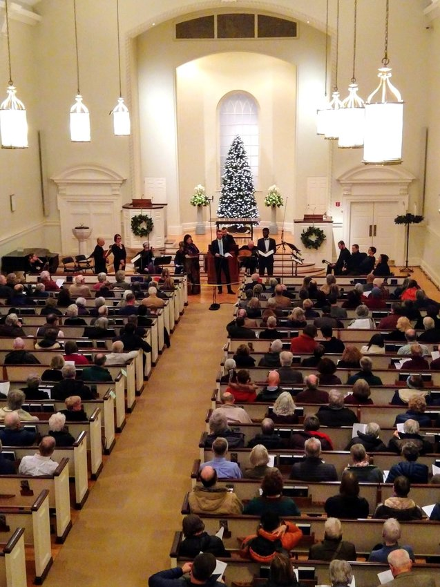 """Tempesta di Mare performing """"A Czech Christmas"""" at Chestnut Hill Presbyterian Church last year. A stream of this year's performance at The Episcopal Cathedral in Philadelphia was available in December."""