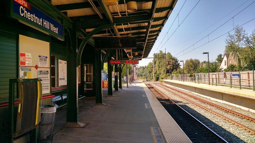 Chestnut Hill West Station.