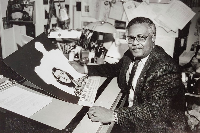 Frank Stephens Jr., one of the city's most celebrated artists over the past half-century, was also the first Black manager at the 130-year-old Free Library of Philadelphia. (Photo courtesy of the Stephens family)