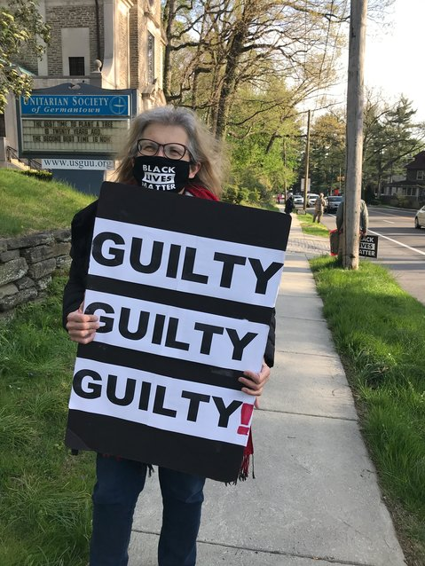 Locally reaction has come in from politicians and activists, as horns blared near the Unitarian Society of Germantown (USG) where vigils started up again the night after the verdict was read.