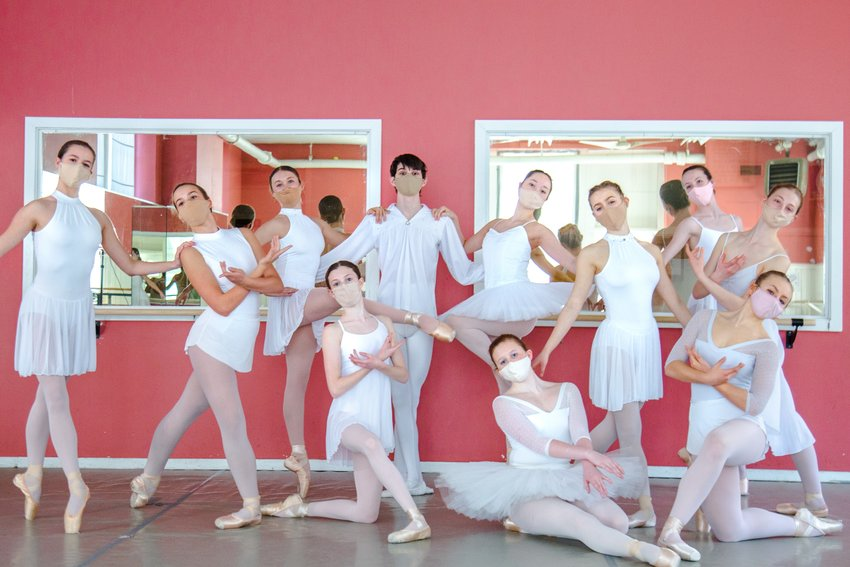 Students at the Philadelphia Dance Theatre in West Mt. Airy are, Back, from left: Amanda McHale, Esther Bucko, Hannah Cherry, Bishop Kashock-Marenda, Carina Lew, Olivia Chesla, Libby Kline and Lily Anninger. Front: Lucy Lukens, Eliza Griffin and Eva Bevan. (Photo by Jacob Bucko @chasingappollo)