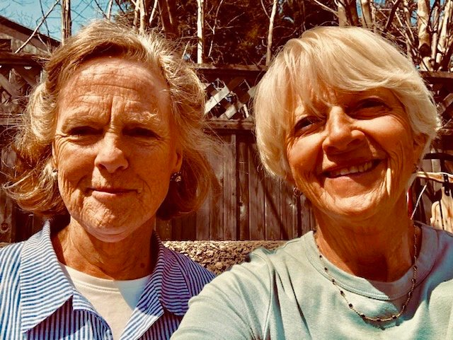 Lyn Buchheit (right) and Barbara Wybar, of Chestnut Hill, left recently to visit the vocational school that Wybar founded 18 years ago in the village of Bududa in Uganda, East Africa.