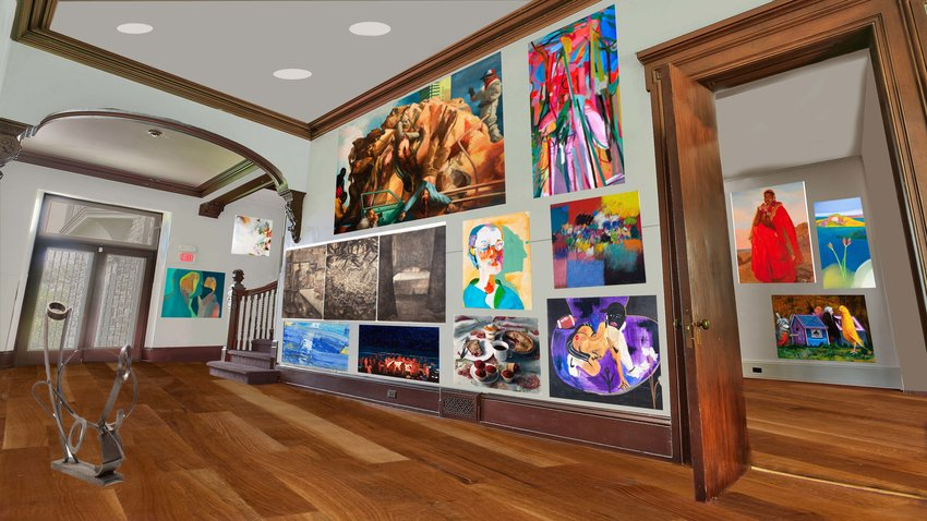 A rendering shows what a gallery space at St. Michael's Hall would look like. (Darryl W. Moran Photography 2021)