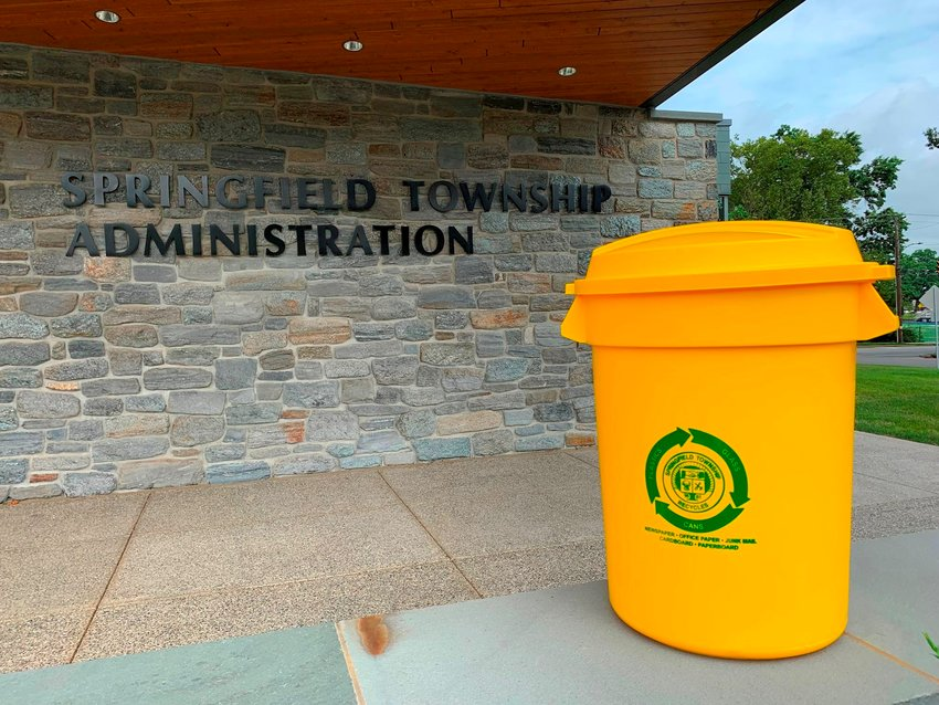 Springfield Township has the cleanest record for recyclables in Montgomery County.