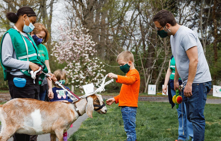 The rambles are free, and open to anyone. (Photo courtesy Philadelphia Goat Project)