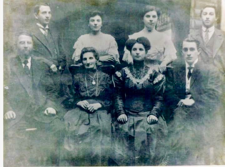 This faded 111-year-old photo shows some of Stacia Friedman's ancestors four years after they left Russia and arrived in the U.S.
