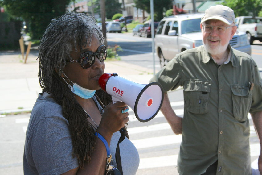 developments in East Mt. Airy. Her new grass roots group, Northwest Community Alliance, aims to help neighbors closest to these developments be better heard by elected officials and community groups. (Photo by Patrick Cobbs)