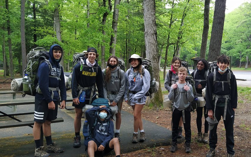During the last week in May, 79 Springside Chestnut Hill Academy 9th grade students went on a backpacking expedition in the Michaux State Forest and the Delaware River Water Gap Recreation Area, hiking sections along the Appalachian Trail.