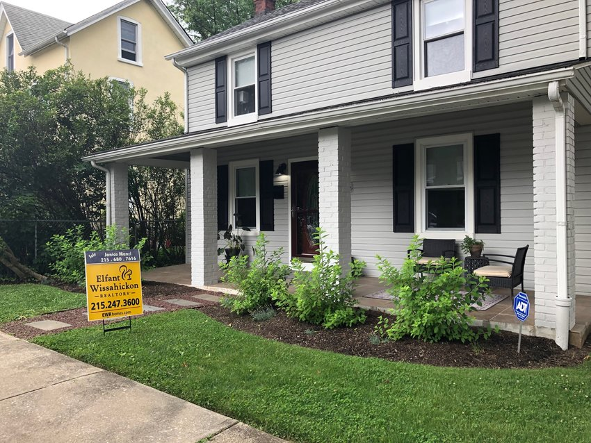 """Home for sale on the 8100 block of Devon Street is part of an """"endangered species."""" Realtors say that low inventory makes it hard for new homebuyers to move in Chestnut Hill.  (Photo by Barbara Sheehan)"""