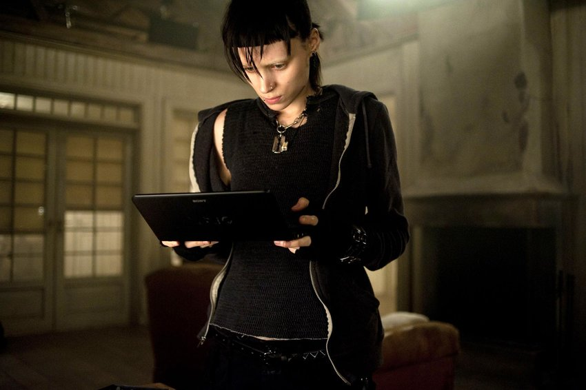 """Rooney Mara as Lisbeth in the American remake of """"Girl with the Dragon Tattoo."""""""