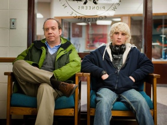 """Paul Giamatti  as Mike Flaherty and Alex Shaffer as Kyle in """"Win Win."""""""