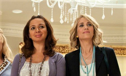 """Maya Rudolph and Kristen Wiig in """"Bridesmaids,"""" directed by Paul Feig (2011)."""