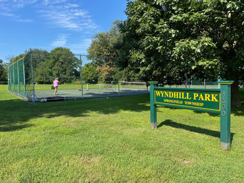 Wyndhill Park Tennis Courts – The Township will paint temporary pickle ball lines soon and provide portable nets like the one shown here.