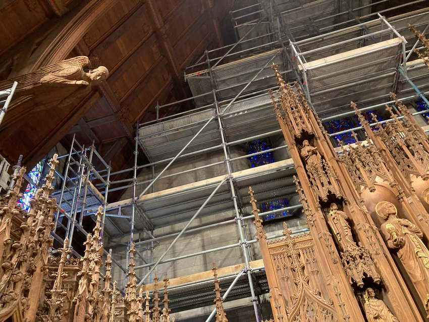"""""""We had originally hoped for the restoration of the pipe work and the replacement of the console to be completed by the summer of 2022,"""" said parish music director Andrew Kotylo. """"It could take possibly another year."""""""