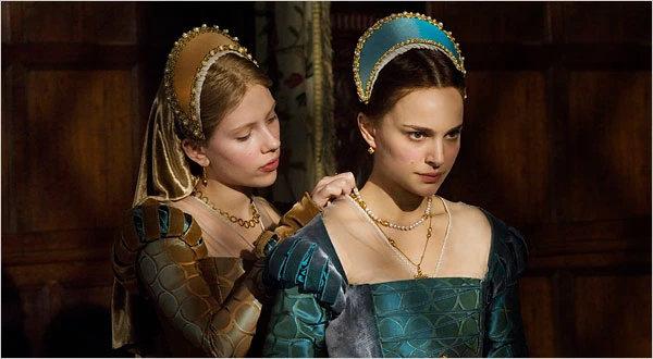 Scarlett Johansson plays sweet-natured, passive Mary Boleyn, and Natalie Portman Anne.