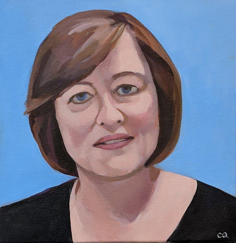 Nancy Allen, Ph.D. (Photo and artwork by Colleen Quinn)