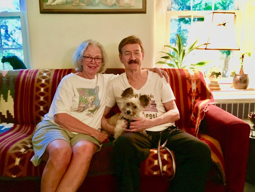 Len and Jeanette Lear are delighted to have Rocky, a 9-pound, 9-year-old big-eared mixed breed survivor of the mean streets of North Philly, in their West Mt. Airy home.