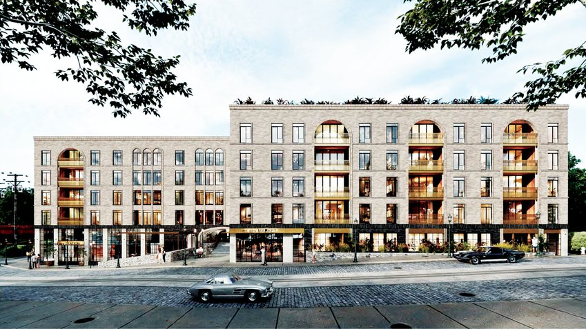 Rendering from presentation by M Architects of 7611-25 Germantown Avenue.