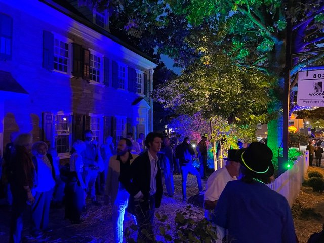"""As part of its centennial celebration this year, Woodward Co. partnered with the Chestnut Hill Conservancy to sponsor the 2021 """"Night of Lights,"""" and held the kickoff event at their headquarters on Germantown Ave."""