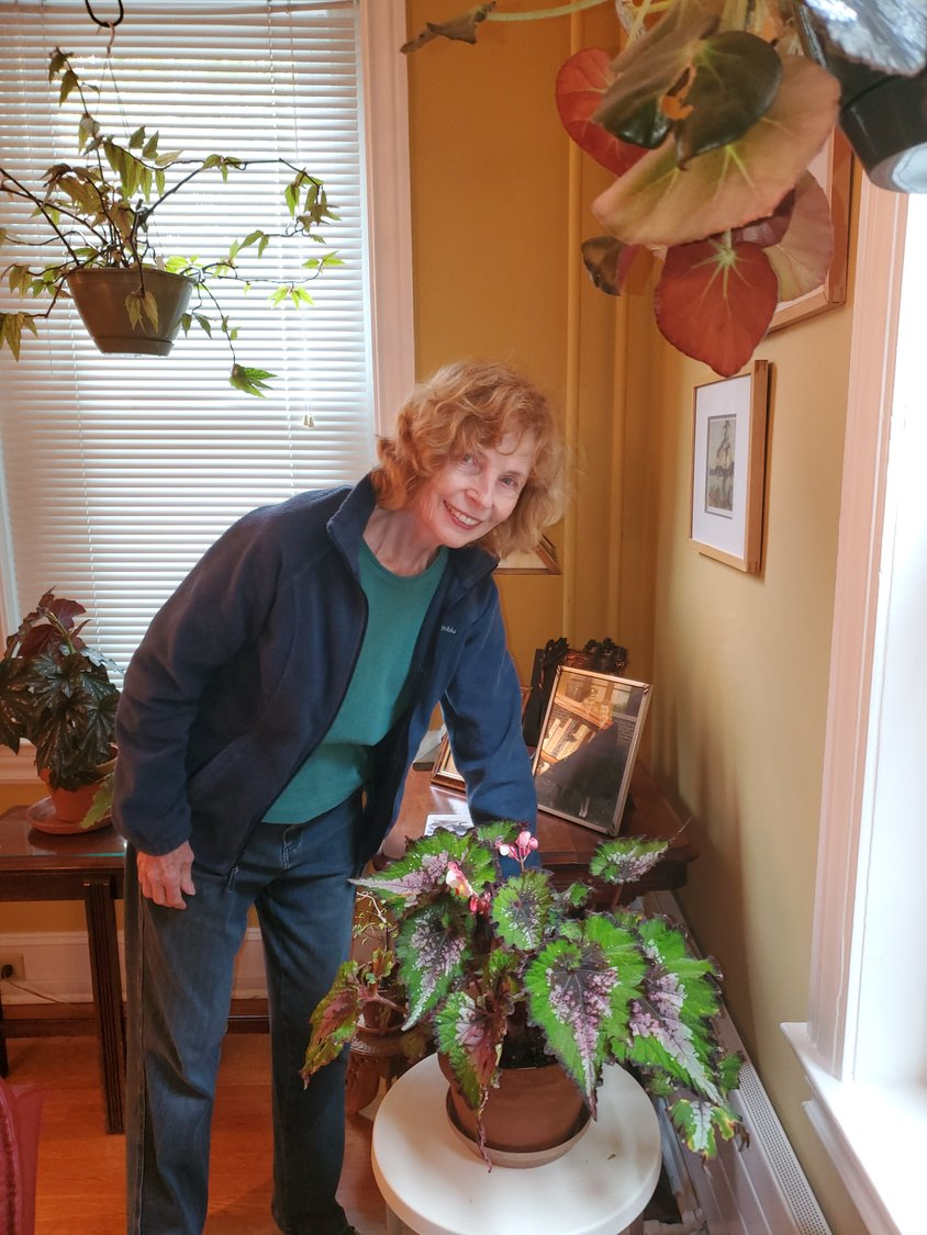 Valerie and her Rex Begonia.