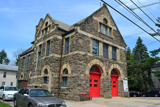 Our Engine 37 Firehouse, built in 1894, and considered the most unique example of Franco-Romanesque architecture within the city.