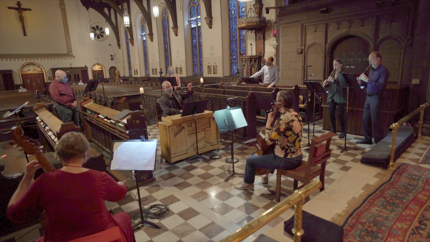 Matthew Glandorf conducting Choral Art Philadelphia at St. Clement's Episcopal Church in Center City.