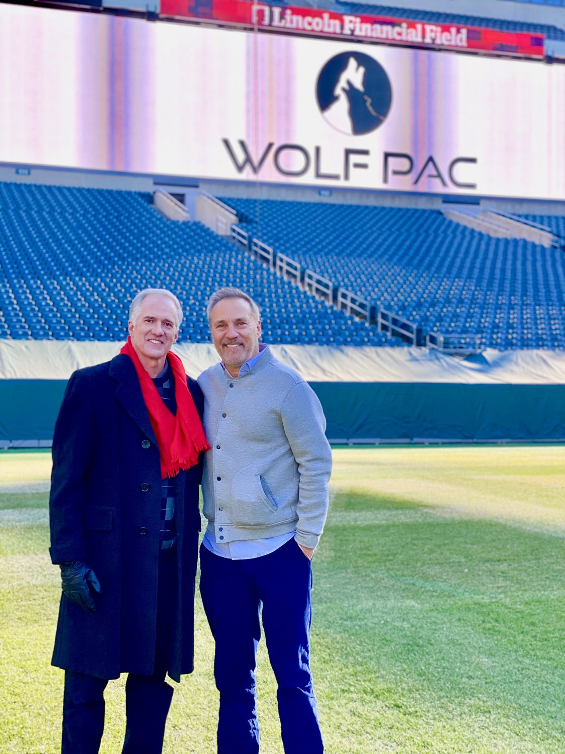 "Craig Shoemaker (right) and Kent Griswold, who grew up in Erdenheim, have launched a TV reality show, ""Wolf PAC of Philadelphia,"" which just began streaming Jan. 12 on Amazon Prime. It is similar to ""Shark Tank."""