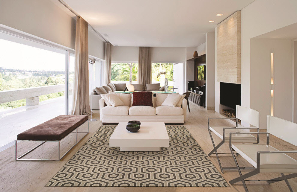 Modern living spaces flow together as part of one contiguous space that reflectsa more casual and relaxed way of life.