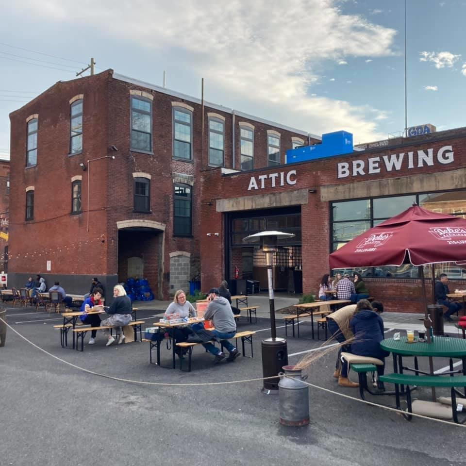 Attic Brewing Co. has had plenty of space for outdoor dining.