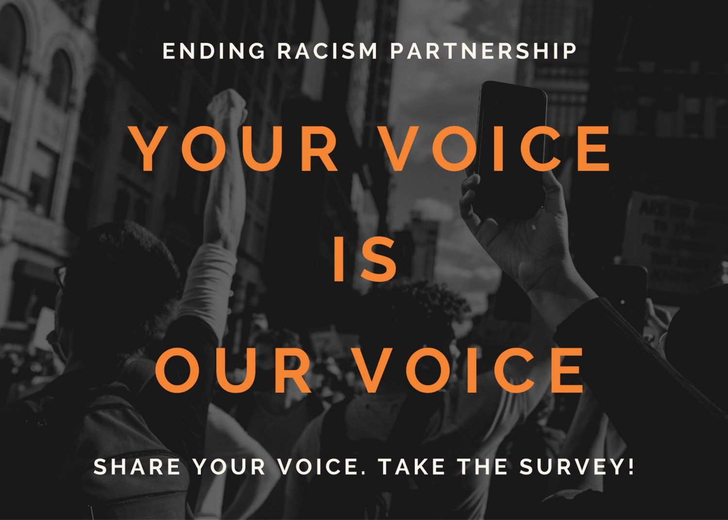Currently available in English, Spanish and Chinese, the online survey is designed to collect firsthand accounts of perceptions of racism and its impact. It takes less than five minutes to complete and will be open through the end of April. The Partnership will share the results of the survey in May.