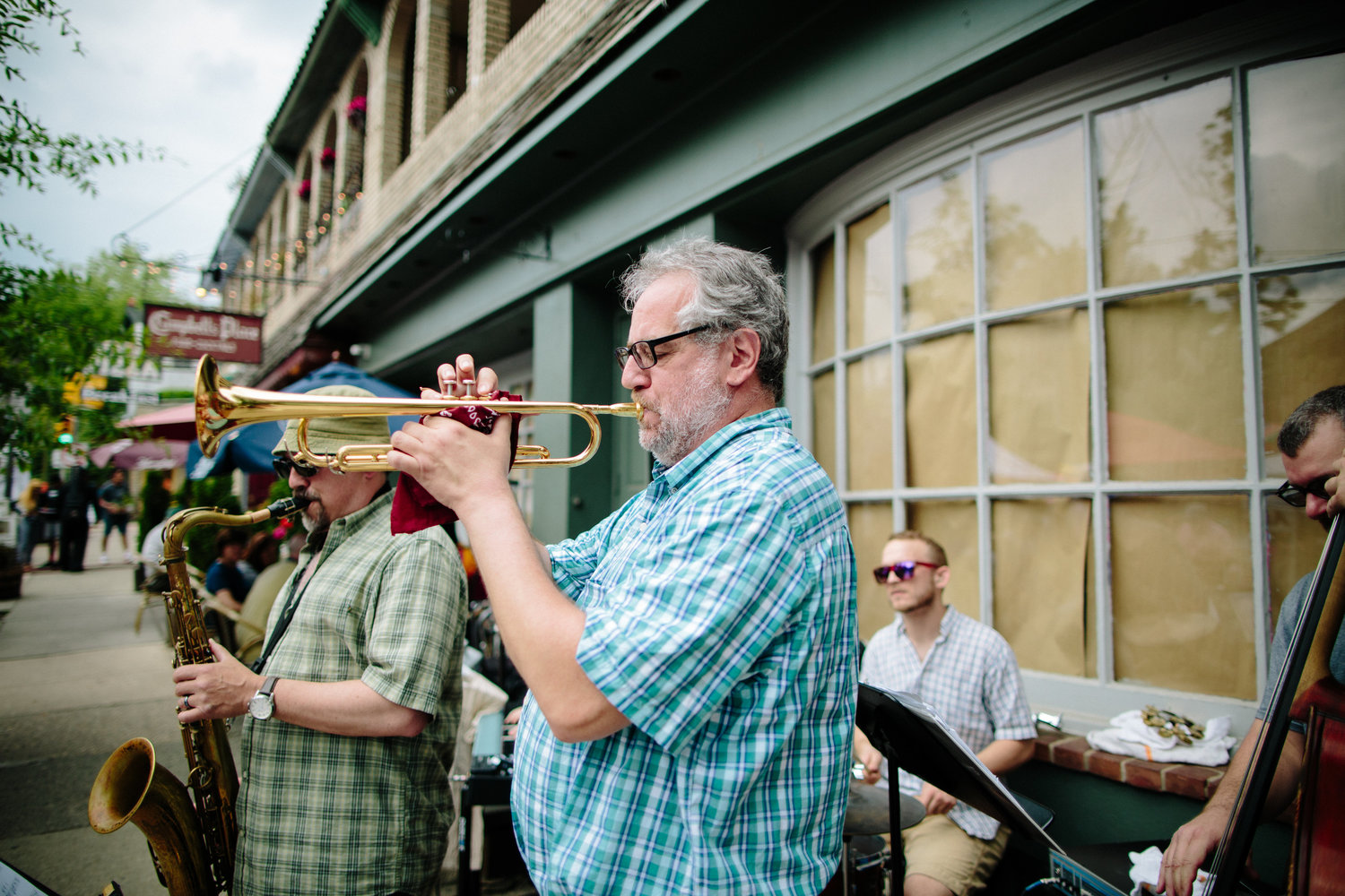 A band plays at a prior Home & Garden Festival. Music scheduled for the upcoming stroll include a Zydeco band and the cover band Variable Elements. Bands will perform off-of Germantown Avenue at the Top of the Hill and at the Mermaid Inn.