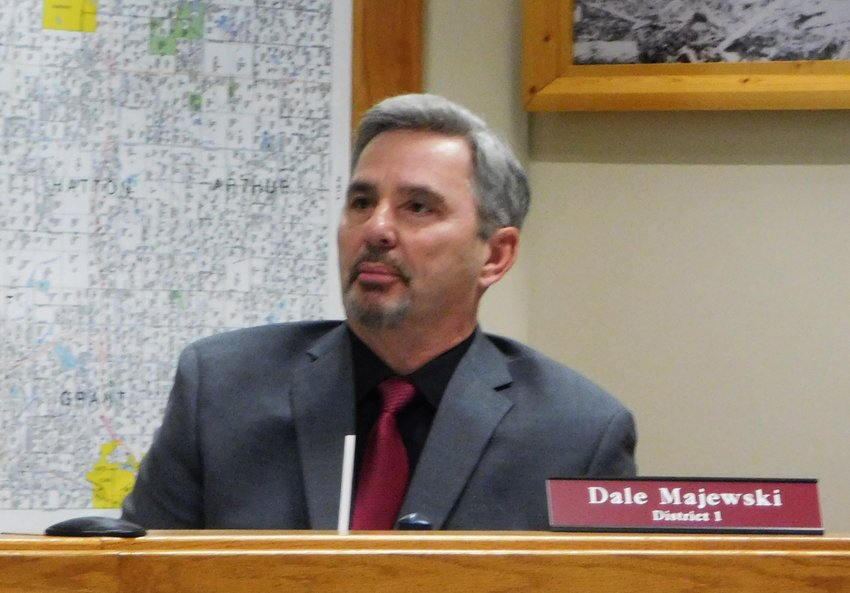 County Commissioner Dale Majewski extends appreciation to CCRC Chair Richard Haynack for his long-awaited words about the road commission making changes and being more responsive to the needs of residents/townships.